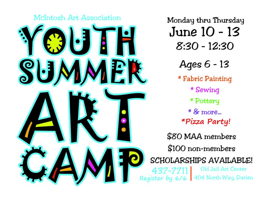 MAA Art Camp 2019 flyer